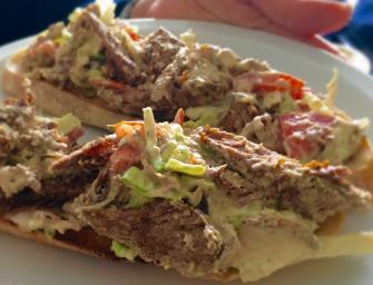 Lamb Houmous Salad Sandwich