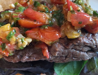 Steak Roll with Tomato Salsa