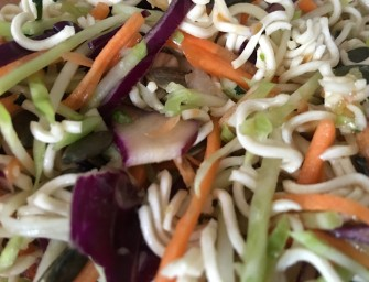 Asian Coleslaw with Crispy Noodle