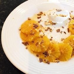 Caramelised Oranges in Pimm's