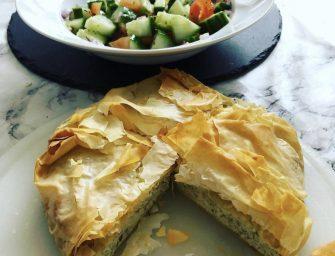 My Yiayia's Tiropita Recipe  (Greek Cypriot Filo Cheese Pie)